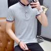 lucassa футболки мужчин с коротким рукавом рубашки воротник рубашки поло полоса смешанных цветов белая футболка M 1711 M рубашки футболки для детей