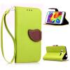Зеленый дизайн Кожа PU откидная крышка бумажника карты держатель чехол для Samsung Galaxy Core Prime/G3609 зеленый одуванчик дизайн кожа pu откидная крышка бумажника карты держатель чехол для samsung galaxy core prime g360