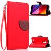 Красный Дизайн Кожа PU откидная крышка бумажника карты держатель чехол для ASUS ZenFone 2 Laser (ZE500KL) ze500kl 1a435ru