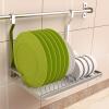 Настенные кухонных шкафы Chaomu складных сушилки Спускного хранение стойки хранения полки стойка стенка 60CM стержень ZM3388G