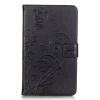 Черный цветочный дизайн Кожа PU откидная крышка бумажника карты держатель чехол для SAMSUNG T715 цветочный дизайн кожа pu откидная крышка бумажника карты держатель чехол для iphone 7g