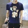 lucassa короткими рукавами футболки мужские шею футболки мультфильма печатных короткими рукавами футболки мужчин 98077 черный XXL lucassa короткими рукавами футболки