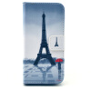 Эйфелева башня Дизайн Кожа PU откидная крышка бумажника карты держатель чехол для IPHONE 5 браун роуз дизайн кожа pu откидная крышка бумажника карты держатель чехол для iphone 6s