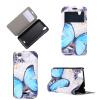 Blue Butterfly Design Кожа PU откидной крышки Кошелек для карты памяти Чехол для Wiko Birdy htc butterfly x920d с поддержкой карты памяти в твери