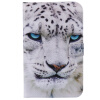 Белый Leopard дизайн PU кожа флип Обложка Кошелек Карты Держатель чехол для SAMSUNG T530 чехол обложка белый флип для samsung s5230