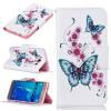 Персик бабочка Дизайн искусственная кожа флип кошелек карты держатель чехол для SAMSUNG Galaxy J5 2016/J510