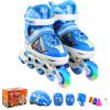 Доспехи воинов детские костюмы коньки ПУ-роликовые коньки коньки тапочки KJ-333 S синий