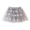 Fuluo чо Flordeer французского детская одежды для девочек снега печати юбки слойки F6005 серых 130