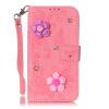 Розовая бабочка Кожа PU откидная крышка бумажника карты держатель чехол для LG K7 smile auflege vibrator клиторальный стимулятор
