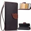 Черный Дизайн Кожа PU откидная крышка бумажника карты держатель чехол для HTC One A9 розовый дизайн кожа pu откидная крышка бумажника карты держатель чехол для htc one a9