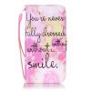 Розовый Улыбка Дизайн Кожа PU откидная крышка карточки бумажника держатель случая для IPHONE 7 улыбка обучающие карточки рыбы россии