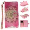 Розовый цветок дизайн искусственная кожа флип кошелек карты держатель чехол для SONY Xperia M4 Aqua не прикасайся ко мне дизайн искусственная кожа флип чехол кошелек карты держатель чехол для sony xperia m4 aqua