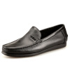 (TIBAO AUCHEHO) Полосатая мужская обувь для бизнеса Мягкая рукава Удобная мужская кожаная обувь Влажность Мужская повседневная обувь Черный 40 мужская обувь