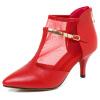 Мета соус (MDIS∧) мода указал удобную обувь металлическая декоративная сетчатая пряжа, сшивающая высокие каблуки 1126 красная 36 ярдов