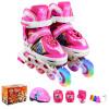 Доспехи воинов детские костюмы коньки PU флеш-роликовые коньки регулируемые роликовые коньки KJ-333 S розовые красные коньки