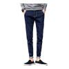 lucassa джинсов мужских случайных брюки простой талия микро-бомба темно-синие джинсы мужские 1728 30