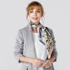 Марио Гуччи (MARJA KURKI) квадратный волшебный момент шелковицы ручной керлинг Европейский и американский шарфы ветра женский серый 1V12X090