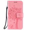 Pink Tree Design PU кожа флип крышку кошелек карты держатель чехол для HUAWEI Y625