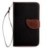 все цены на Черный Дизайн Кожа PU откидная крышка бумажника карты держатель чехол для LG G2 Mini/D620