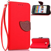 Красный Дизайн Кожа PU откидная крышка бумажника карты держатель чехол для Alcatel OneTouch Pixi3 4.5 мобильный телефон alcatel onetouch 2008g black white