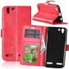 Red Style Classic Flip Cover с функцией подставки и слотом для кредитных карт для Lenovo VIBE K5/K5 Plus/A6020 аксессуар защитная пленка lenovo vibe k5 k5 plus a6020 5 red line матовая