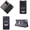 Улыбаясь дизайн зубов PU кожа флип крышку кошелек карты держатель чехол для Sony Xperia Z5 скобы fubag 12 9x14mm 5000шт 140118