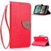 Красный Дизайн Кожа PU откидная крышка бумажника карты держатель чехол для HTC Desire 816 htc desire 650