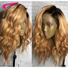 Malaysian Ombre Human Hair Lace Front Wigs 130 Density Blond Ombre Lace Wig 27# Ombre Swiss Lace Wigs With Dark Roots Blond Hai car rear trunk security shield cargo cover for volkswagen vw tiguan 2016 2017 2018 high qualit black beige auto accessories