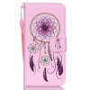 Розовый Белл Дизайн Кожа PU откидная крышка бумажника карты держатель чехол для IPHONE 6PLUS