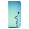 Улыбка Дизайн Кожа PU откидная крышка карточки бумажника держатель чехол для IPHONE 5 улыбка обучающие карточки одежда