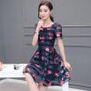 Милан Инь (MILANYIN) Женская +2017 весна корейской выращивания большого размера шею с коротким рукавом печатных юбка мода марли Европа органзы платье ML093 Цвет фото M
