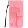 Pink Tree Design PU кожа флип крышку кошелек карты держатель чехол для HUAWEI Y6 смартфон huawei y6 pro золотой