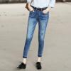 Тем не менее, чистый (Rain.cun) джинсы женские отверстие джинсы брюки ноги Тонкий стрейч колготки Корейский карандаш брюки N2152 синий 33 ярдов однако чистые rain cun джинсы женские джинсы стрейч тонкий тонкий сплошной цвет джинсы ноги колготки пригородный 30 ярдов простой черный n2235