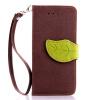 Коричневый Дизайн Кожа PU откидная крышка бумажника карты держатель чехол для Apple iPhone 6 зеленый дизайн кожа pu откидная крышка бумажника карты держатель чехол для apple iphone 6