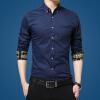 lucassa мужские рубашки воротник рубашки мужские простой случайный с длинными рукавами рубашки мужские рубашки 1730 светло-синий L