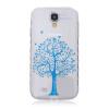 Синий дерево шаблон Мягкий чехол тонкий ТПУ резиновый силиконовый гель чехол для SAMSUNG Galaxy S4 I9500 стоимость