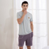 QIANXIU домашняя пижама хлопковая одежда V-образный вырез
