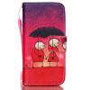 Пара Зонтик Дизайн PU кожаный бумажник держателя карты откидная крышка чехол для SAMSUNG S5 пара зонтик дизайн pu кожаный бумажник держателя карты откидная крышка чехол для iphone 6
