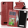 Браун Стиль Классический Флип Обложка с функцией подставки и слот для кредитных карт для Lenovo Vibe C/A2020 смартфон lenovo vibe c a2020 a2020a40 white