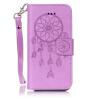 Фиолетовый Ветер Chime Дизайн Кожа PU откидная крышка бумажника карты держатель чехол для IPHONE 7PLUS цветочный дизайн кожа pu откидная крышка бумажника карты держатель чехол для iphone 7plus