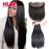 13 x 4 8A grade Brazilian Virgin human Hair Lace frontal With 2 pcs unprocessed Silky Straight black Hair Bundles Weaves 7a none full lace human hair wigs short straight glueless unprocessed virgin brazilian lace front wig black women