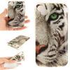 Обложка Белый тигр шаблон Мягкий тонкий ТПУ резиновый силиконовый гель чехол для WIKO Sunny