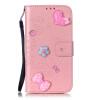 Розовый цветок дизайн искусственная кожа флип кошелек карты держатель чехол для HUAWEI HONOR 5X чехол для сотового телефона honor 5x smart cover grey