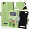 Зеленая классическая флип-обложка с функцией подставки и слотом для кредитных карт для Lenovo Vibe C/A2020 смартфон lenovo vibe c a2020 a2020a40 white