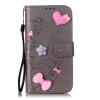 Серый цветочного дизайна Кожа PU откидная крышка бумажника карты держатель чехол для HUAWEI Y6 смартфон huawei y6 pro золотой