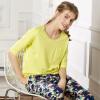 Новые семейные семейные пижамы женские осенние рукава штаны домашнее обслуживание 15121049 трава зеленая XXL