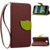 Коричневый Дизайн Кожа PU откидная крышка бумажника карты держатель чехол для HTC Desire 520 розовый дизайн кожа pu откидная крышка бумажника карты держатель чехол для htc one a9
