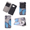 Blue Butterfly Design Кожа PU откидной крышки Кошелек для карты памяти Чехол для Samsung Galaxy S7 blue butterfly design кожа pu откидной крышки кошелек для карты памяти чехол для samsung galaxy s7 edge