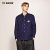 Wei Xiu (viishow) рубашка с длинными рукавами рубашка мужская повседневная мужская длинная рубашка вышивка корейская версия CC1115171 синий L рубашка