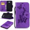 Фиолетовая бабочка с тиснением Классическая флип-обложка с функцией подставки и слотом для кредитных карт для Samsung Galaxy J7 2017/J710